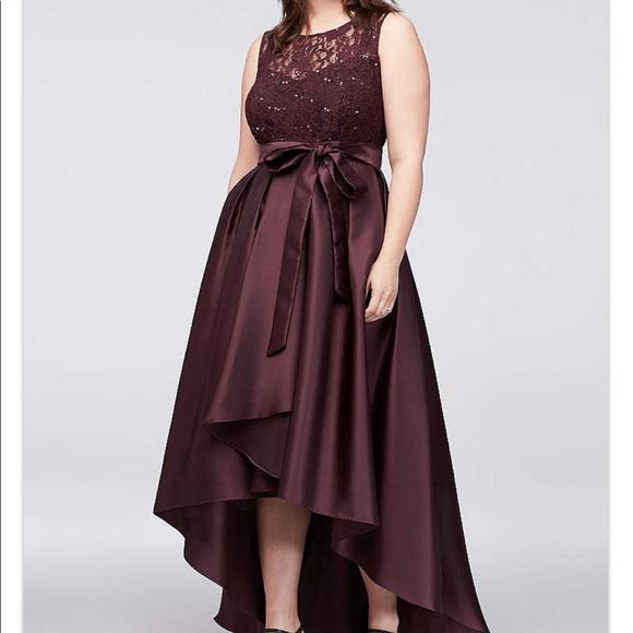 062d02cd David's Bridal Dresses | Sequin Lace Dress With Mikado Skirtignite ...